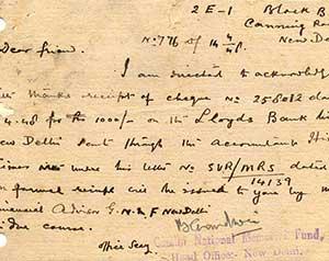 Letter-from-Gandhi-National-Memorial-Fund,-New-Delhi-to-Ranaji