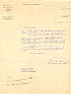 Letter-of-Krishnalal-Shridhrani-to-Ranaji